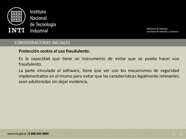 Testing de software en instrumentos de pesar de funcionamiento no automatico - Angel Vicente Nuñez Slide 3