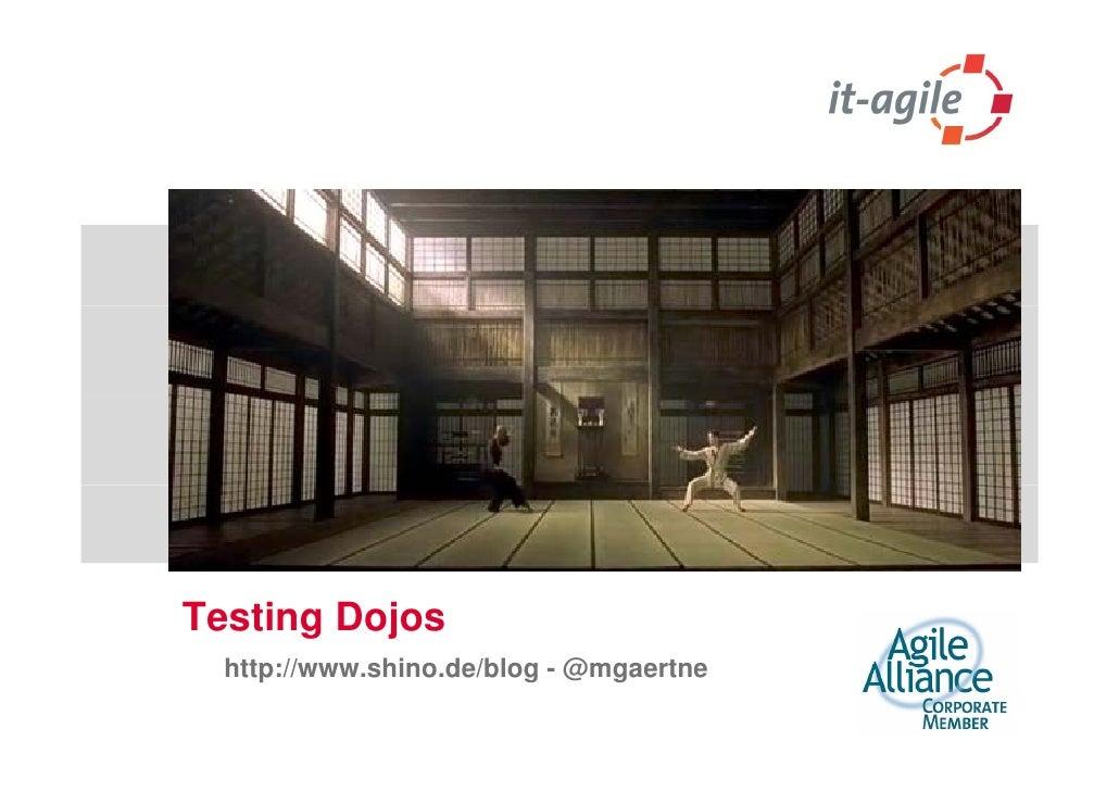 Testing dojos