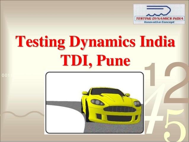 Testing Dynamics India           TDI, Pune0011 0010 1010 1101 0001 0100 1011                                     1        ...