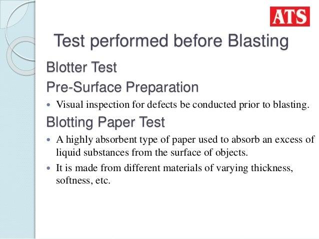 Testing equipments used in thermal spraying aluminium coating