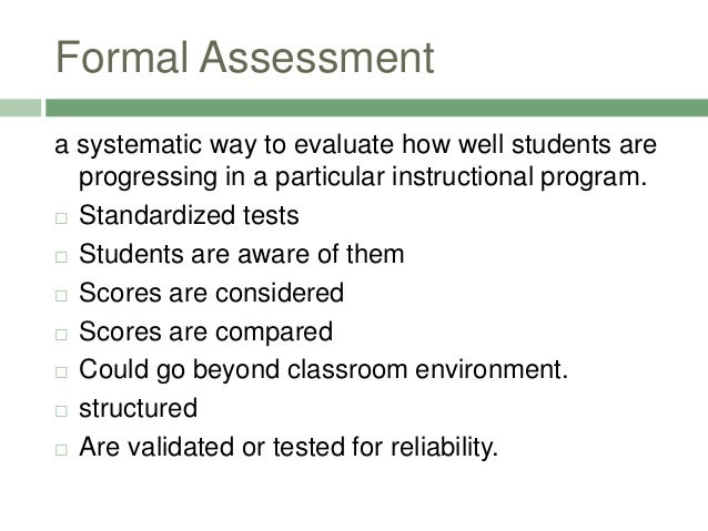 Awesome Formal Assessment ...