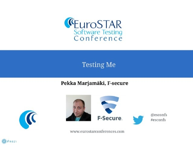 Pekka Marjamaki - Testing Me - EuroSTAR 2013