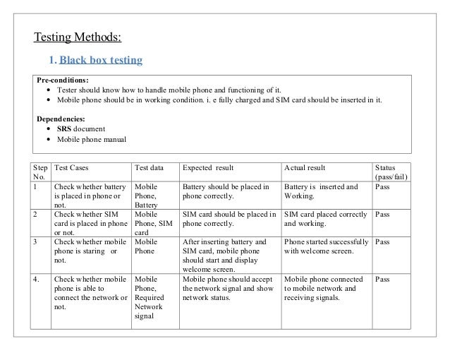 test cases in software testing examples pdf