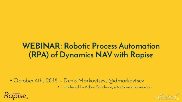 Microsoft Dynamics NAV - Robotic Process Automation (RPA) with Rapise