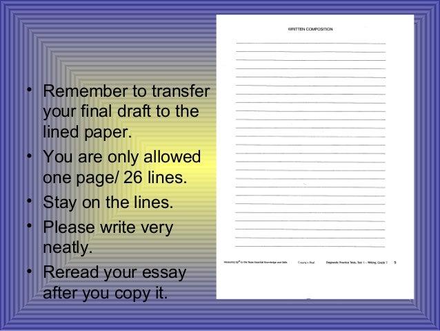 STAAR Lined Paper