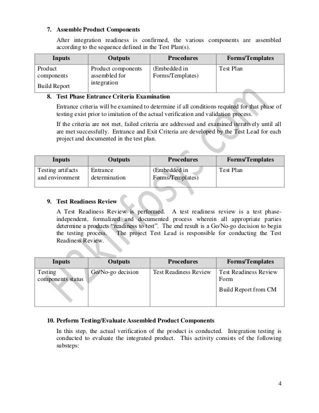 Forms Templates Test Readiness Review 4