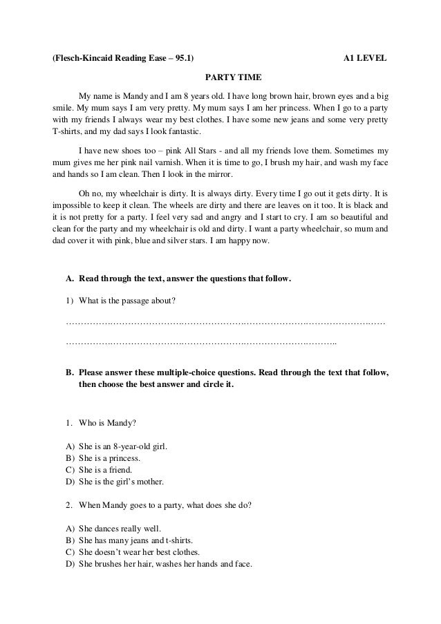 Thesis Statement For Essay Fleschkincaid Reading Ease   A Level Party Time My Name Is  Locavores Synthesis Essay also Examples Of Thesis Essays Testing Reading  Sample Tasks Best Essay Topics For High School