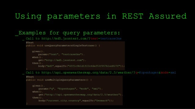 Testing RESTful web services with REST Assured