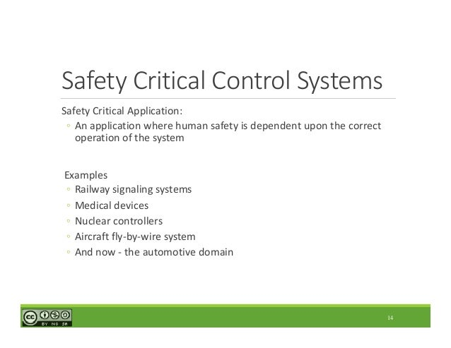 software testing in safety critical systems Key words: safety-critical systems, software safety, software quality, rail road crossing control system (rccs) software safety testing, software implementation, software verification applying the safety practices and software.
