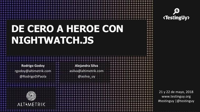 DE CERO A HEROE CON NIGHTWATCH.JS