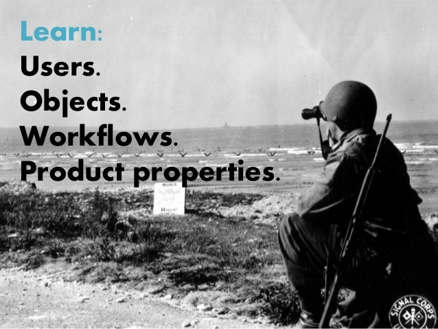 Learn: Users. Objects. Workflows. Product properties.