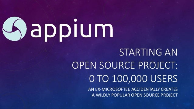 STARTING AN OPEN SOURCE PROJECT: 0 TO 100,000 USERS AN EX-MICROSOFTEE ACCIDENTALLY CREATES A WILDLY POPULAR OPEN SOURCE PR...