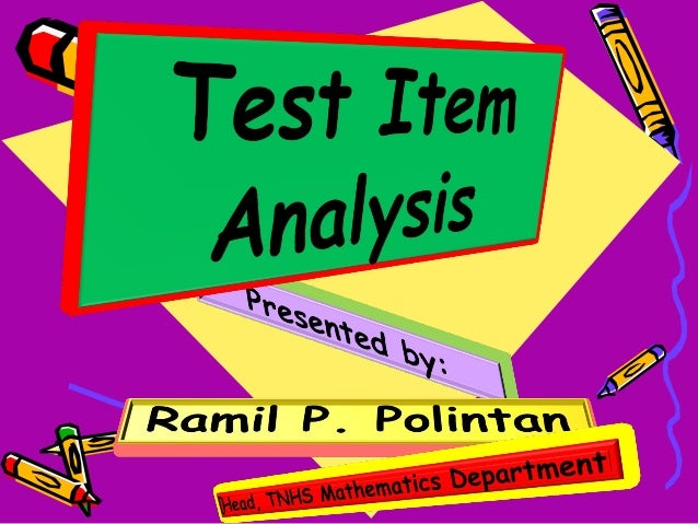 Item: T Est Item Analysis