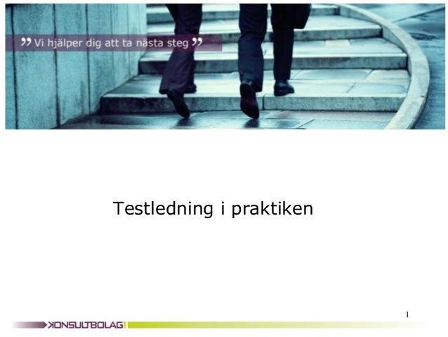 Testledning i praktiken                          1