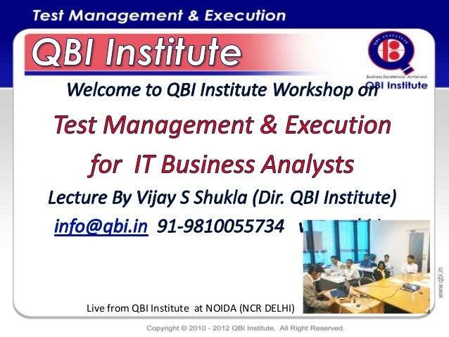 Live from QBI Institute at NOIDA (NCR DELHI)