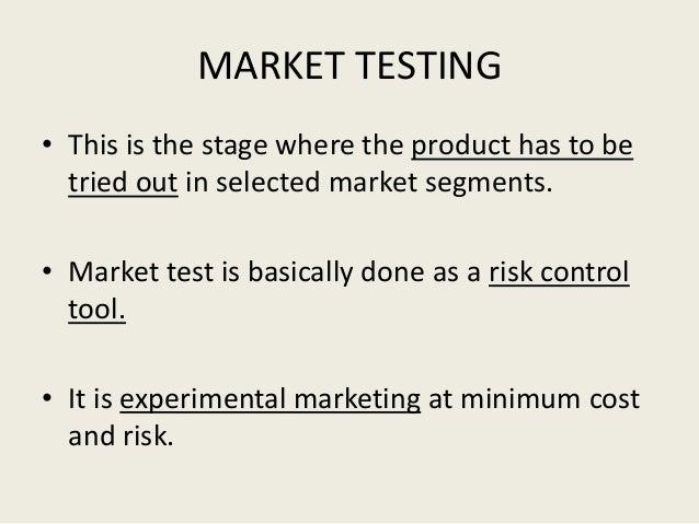 Test marketing techniques