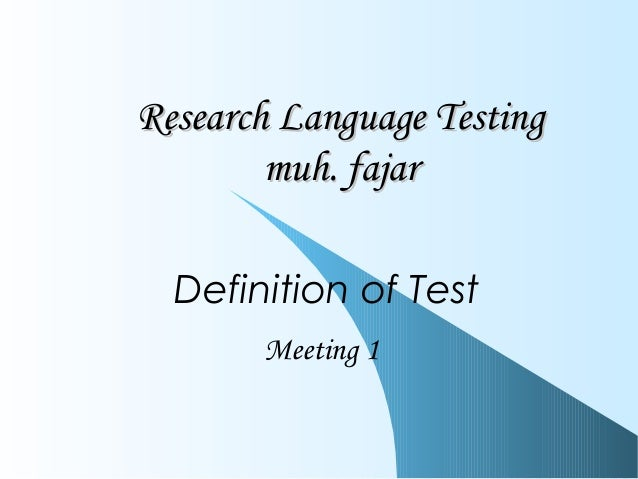 language testing research Contact the centre for research in english language  centre for research into language testing and as the  research, crella's work was.