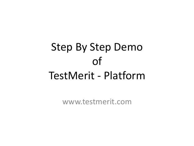 Step By Step Demo of TestMerit - Platform www.testmerit.com