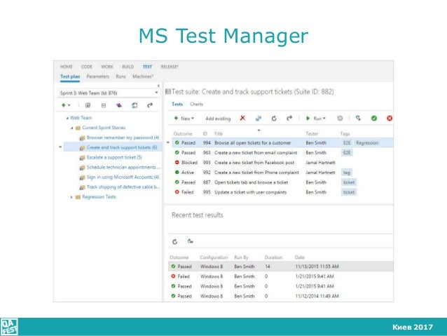 Киев 2017 MS Test Manager