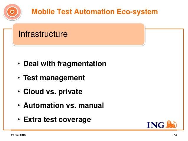22 mei 2013 20 Technique InfrastructureFramework Platform coverage