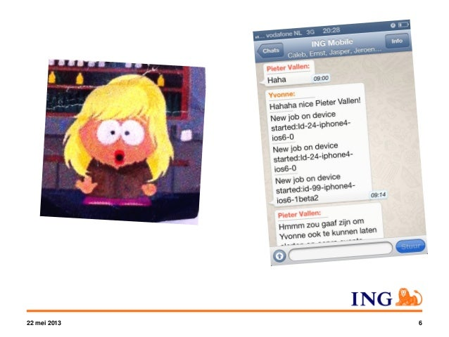 iOS Mobile App @ ING Netherlands • Developed in-house • Working on 11th major release since v1.0 November 2011 • Customize...