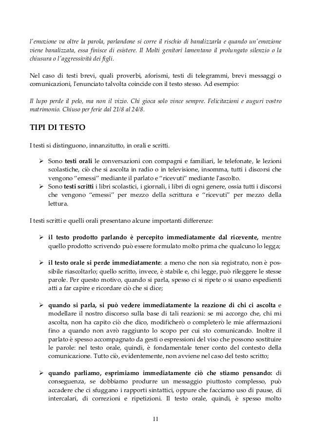 Testo e tipologie testuali - Amori diversi testo ...