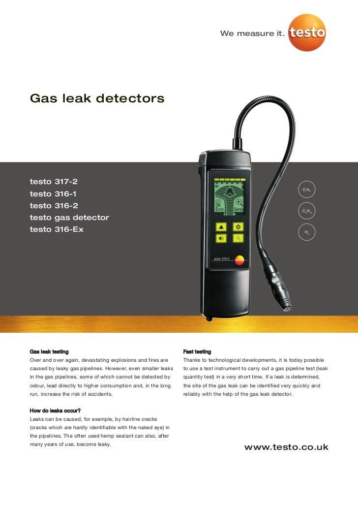 We measure it.Gas leak detectorstesto 317-2                                                                               ...