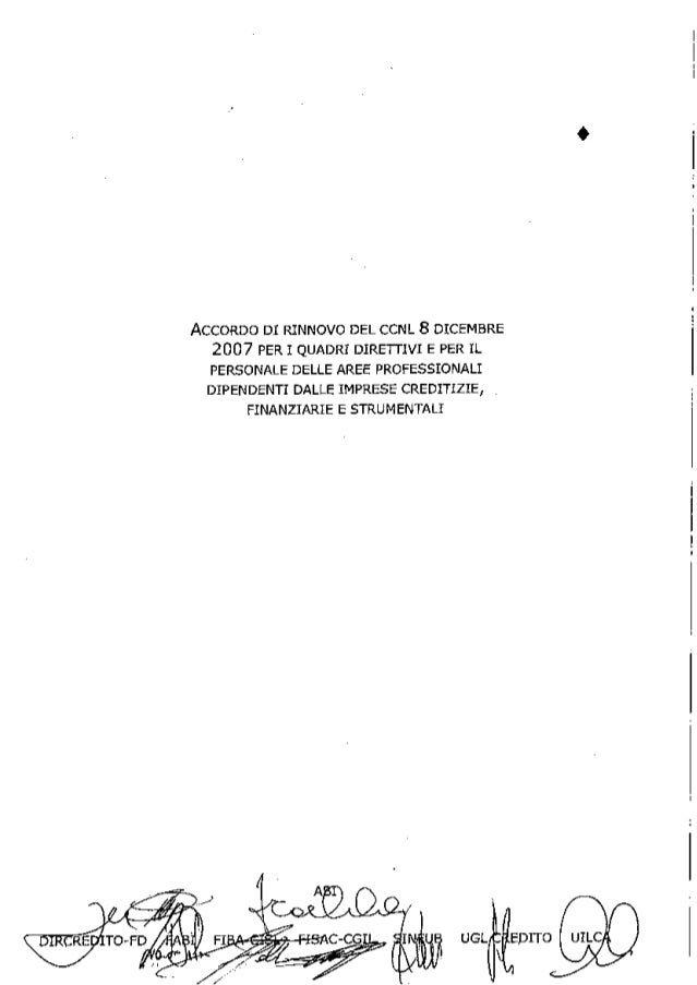 Ipotesi d'accordo CCNL ABI 19/01/2012