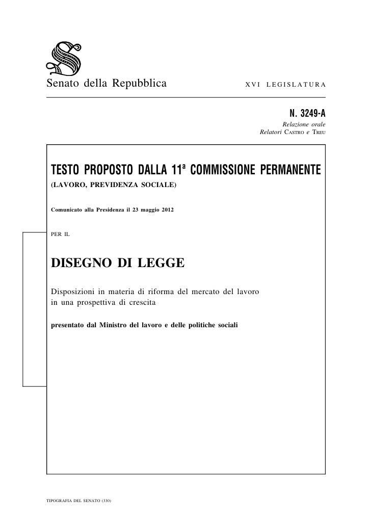Senato della Repubblica                                         XVI     LEGISLATURA                                       ...