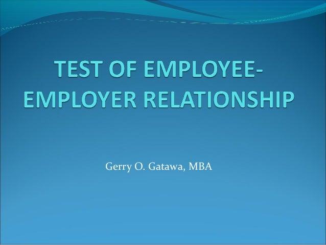 Employer relations quiz
