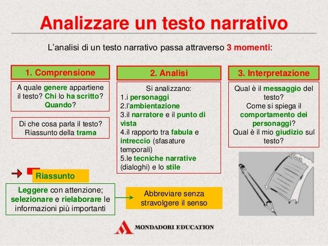 Testo narrativo mondadori scuola tecnica freud for Analisi grammaticale di diversi