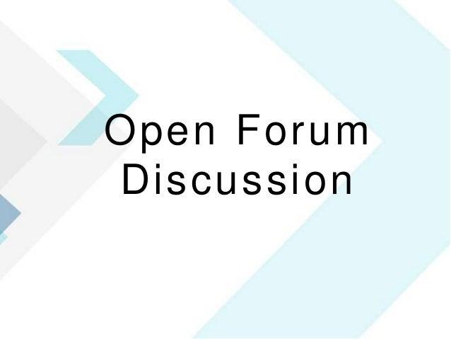 36 Open Forum Discussion