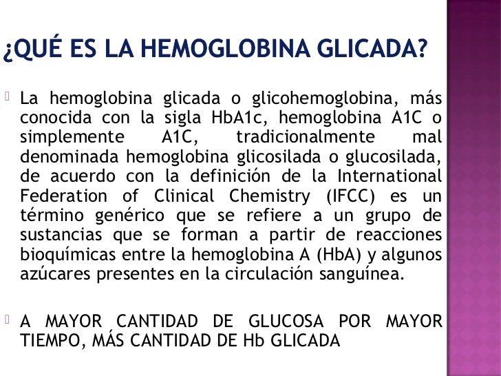 Test oral e intravenosa de Hb glicada