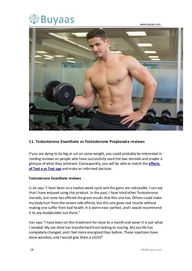 Testosterone enanthate vs testosterone propionate