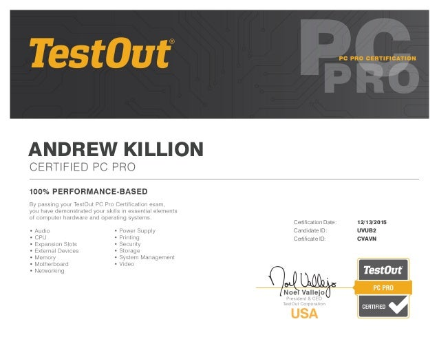 pc pro certification