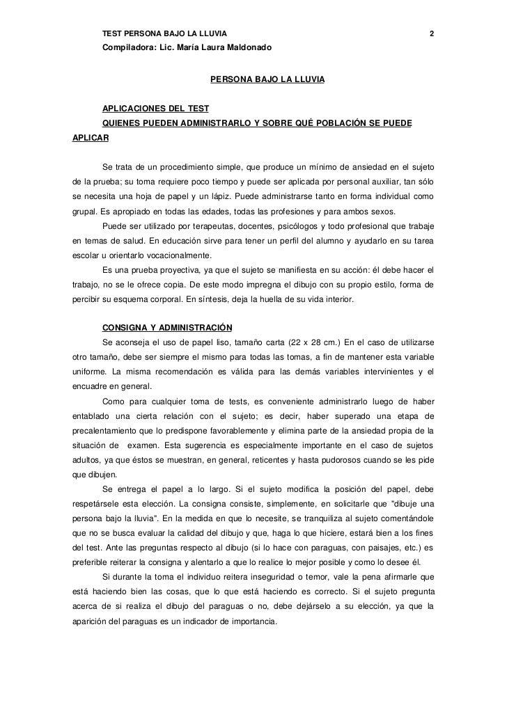 Test De La Persona Bajo La Lluvia  Bioinformatics RD