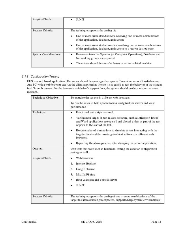 master test plan template