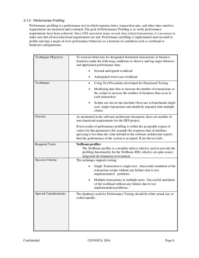 Non functional test plan template images template design for Functional test plan template
