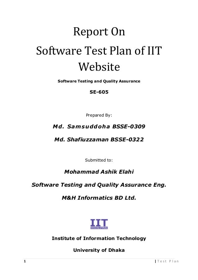 Test Plan On Iit Website