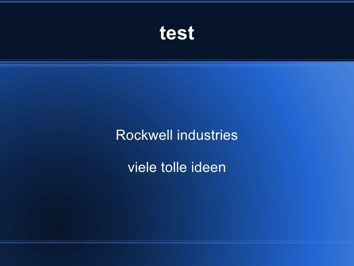 test Rockwell industries viele tolle ideen
