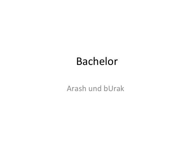 Bachelor Arash und bUrak