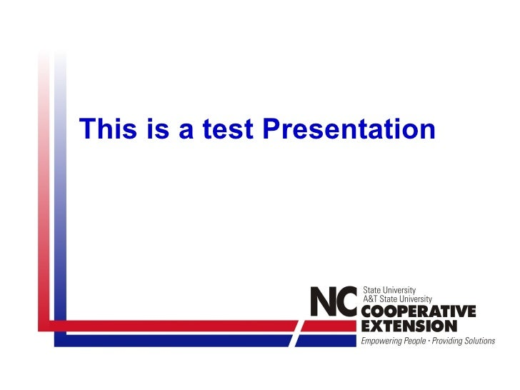 This is a test Presentation