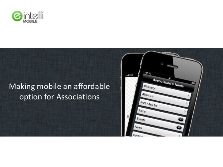 Making mobile an affordable option for Associations<br />
