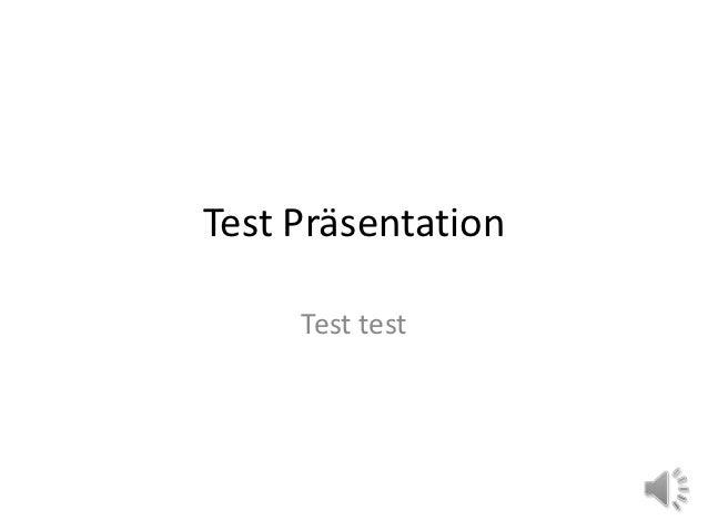 Test Präsentation     Test test