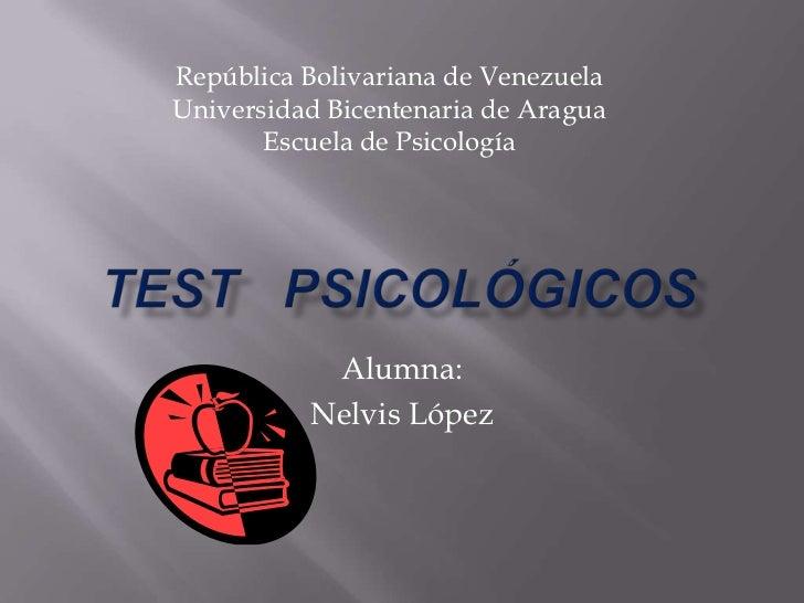 República Bolivariana de VenezuelaUniversidad Bicentenaria de Aragua       Escuela de Psicología           Alumna:        ...