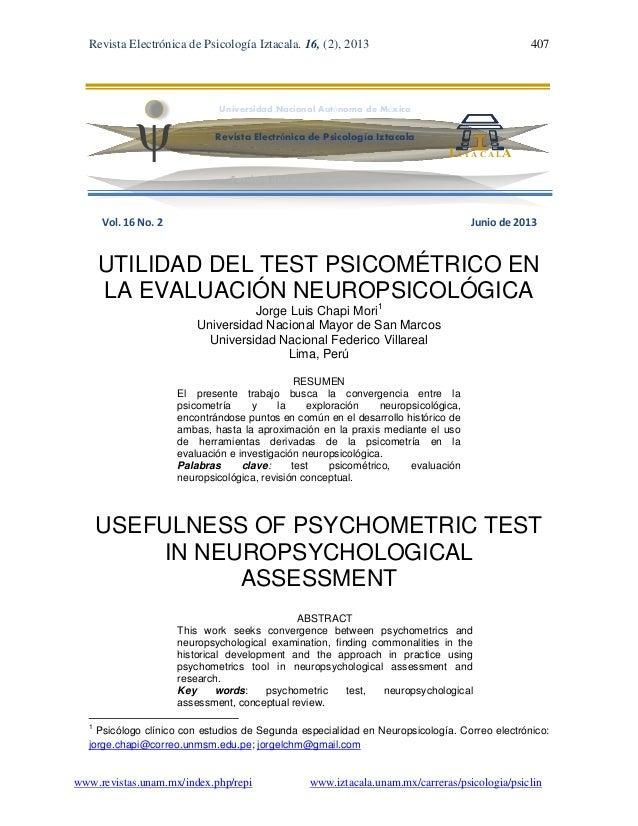Revista Electrónica de Psicología Iztacala. 16, (2), 2013 407www.revistas.unam.mx/index.php/repi www.iztacala.unam.mx/carr...