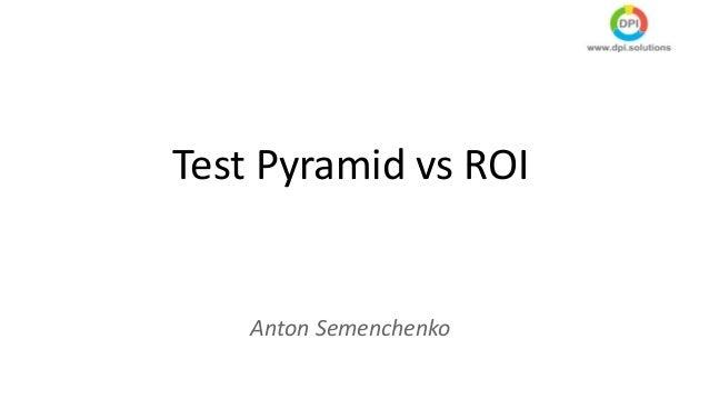 Test Pyramid vs ROI Anton Semenchenko