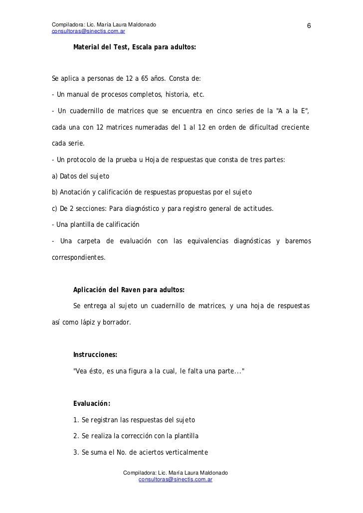 Compiladora: Lic. María Laura Maldonado                                         6consultoras@sinectis.com.ar        Materi...