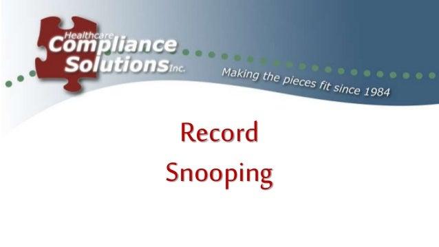 Record Snooping