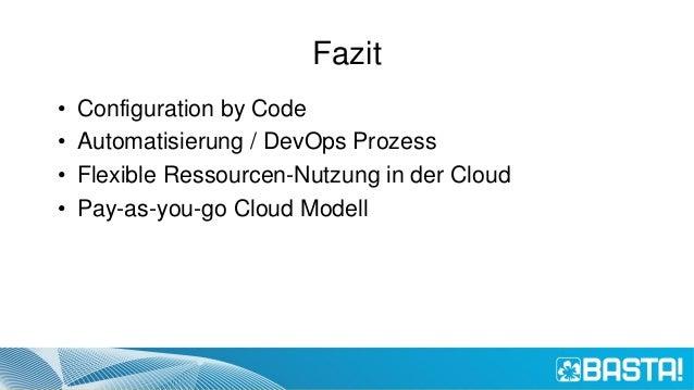 Basta 2016 - Test- und Releaseumgebungen in der Cloud